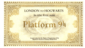 Billete Howards Express regalos para fans de Harry Potter