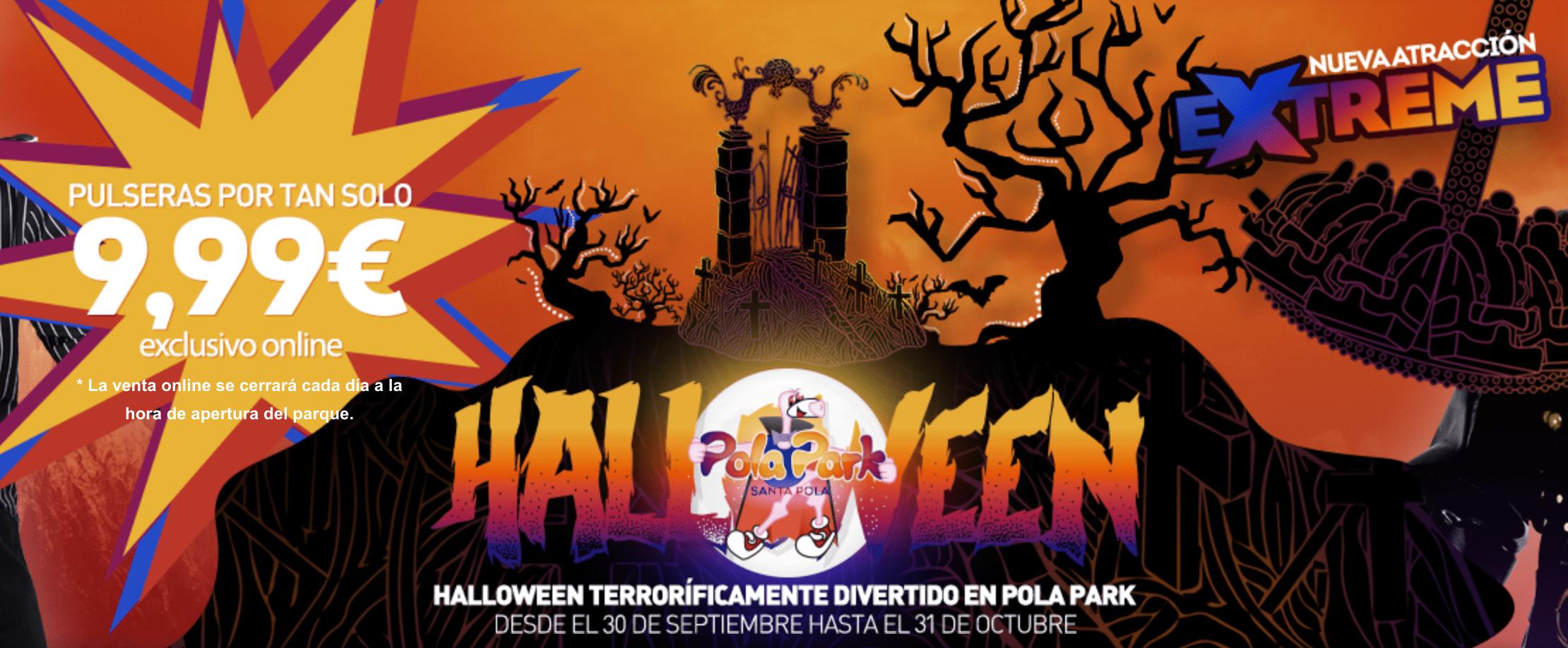 ofertas y descuentos para halloween Pola Park