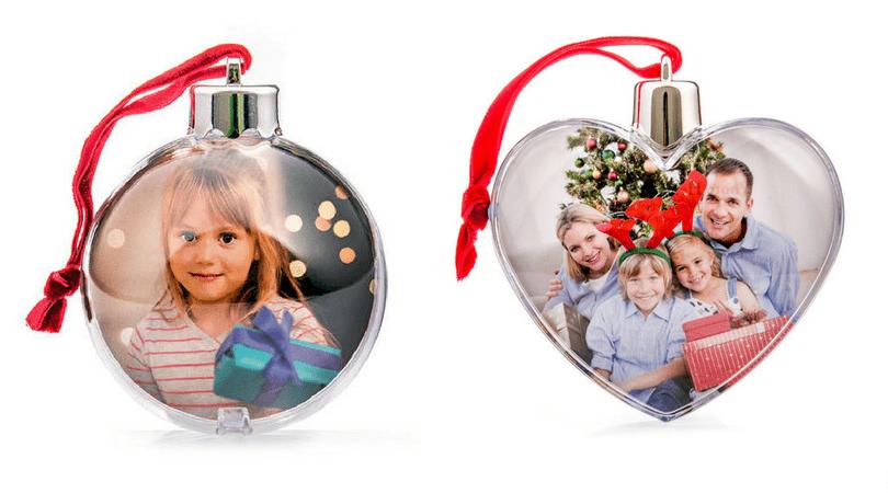 adornos de navidad personalizados bolas con los niños en la mochila