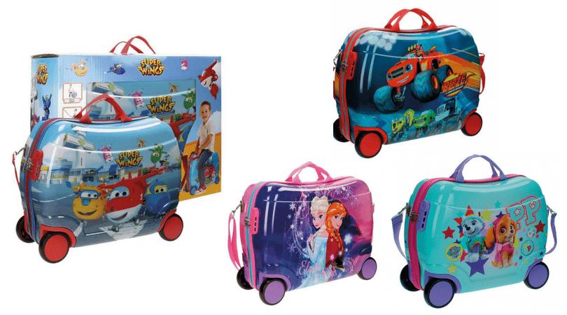 maletas correpasillos Disney con los ninos en la mochila
