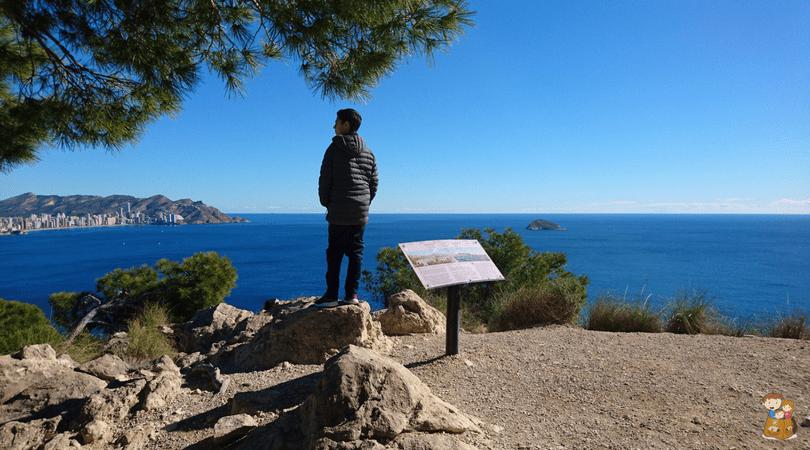 ruta de la costa de villajoyosa 15 Con los niños en la mochila