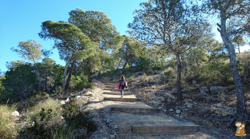ruta de la costa de villajoyosa 8 Con los niños en la mochila