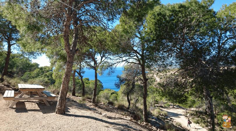 ruta de la costa de villajoyosa 7 Con los niños en la mochila