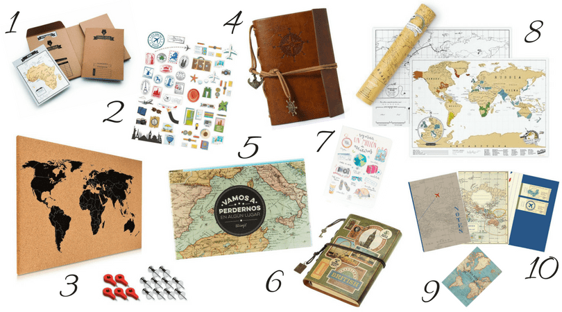 regalos para amantes de los viajes papeleria con los niños en la mochila